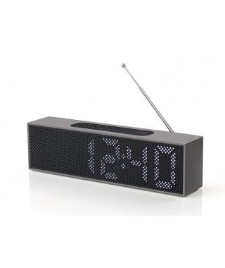 LA83 LEXON TITANIUM LED CLOCK RADIO Aluminium
